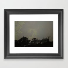 radiation skyline Framed Art Print