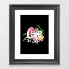 Love is Black Framed Art Print