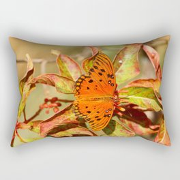 Butterfly In The Glades - Gulf Fritillary Rectangular Pillow