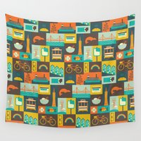 san francisco Wall Tapestries featuring San Francisco by Ariel Wilson
