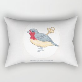 Haruki Murakami's The Wind-Up Bird Chronicle // Illustration of a Bird with a Wind-up Key in Pencil Rectangular Pillow
