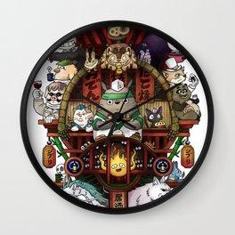 Ghibli Izakaya Print Coloured Wall Clock