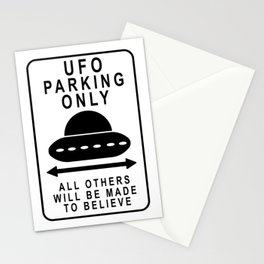 UFO Parking Stationery Cards