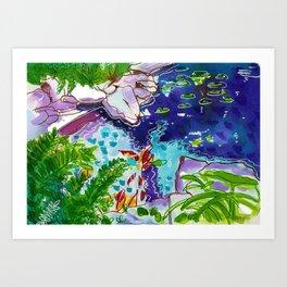 Koi Pond, Palm Beach Art Print