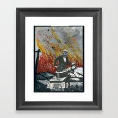 Complimentary Anesthetics amidst firebomb and spiritual tranquilizer raid. Framed Art Print