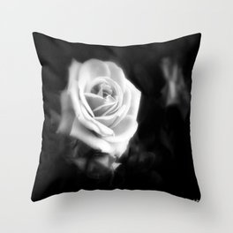 Pink Roses in Anzures 1 Dark Throw Pillow
