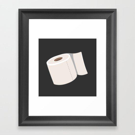 Toilet Paper Framed Art Print