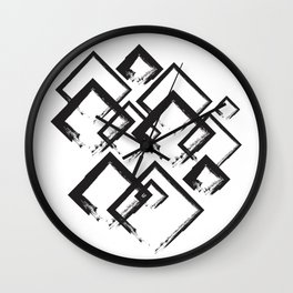 abstract geometry rectangles Wall Clock
