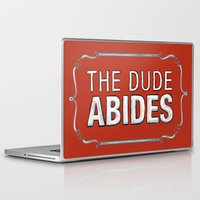 the big lebowski Laptop & iPad Skins featuring BIG LEBOWSKI- The Dude Abides by Michelle Eatough