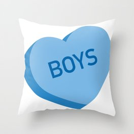 Candy Heart - Boys Throw Pillow