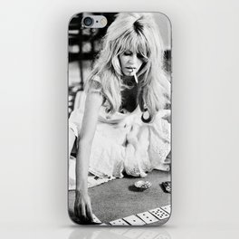 Brigitte Playing Cards , vintage style , gift , fashion, wall art, classic photography, iPhone Skin