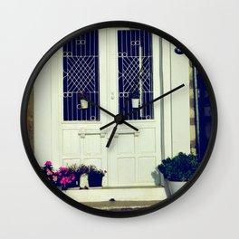 pretty door Wall Clock