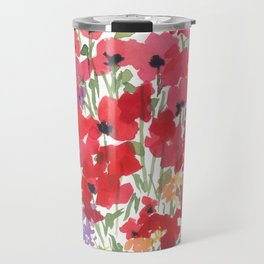 Little Red Poppy Patch Travel Mug