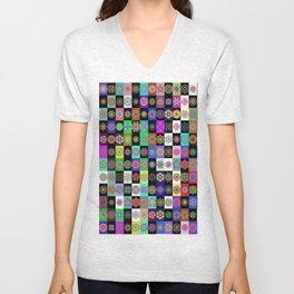 neon mandala Unisex V-Neck