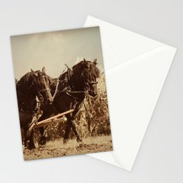 Plow Horses Stationery Cards