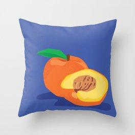 Peachy Peach Throw Pillow