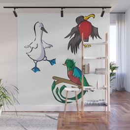 Rare Old Birds Wall Mural