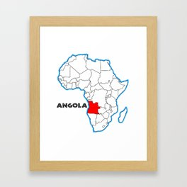 Angola Framed Art Print