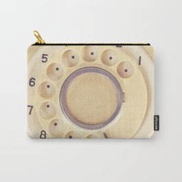 Yellow Retro Telephone  Carry-All Pouch