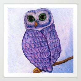 The Quizzical Owl Art Print