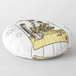 TWO OF CUPS / WHITE Floor Pillow