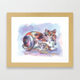 Patch and Stitch, Mama and Baby Framed Art Print