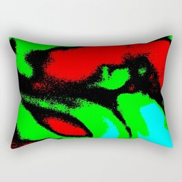 Osile multicolor red green Rectangular Pillow