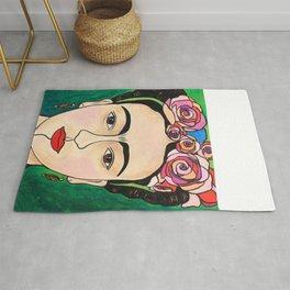 Frida Khalo Portrait Rug