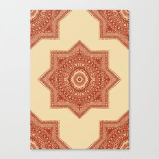 The Red Moroccan Pattern Canvas Print