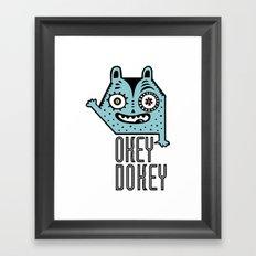 Okey Dokey Monster Framed Art Print