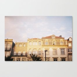 Houses at Sunset Canvas Print