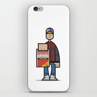 marty mcfly iPhone & iPod Skins featuring Marty by Sr.Pandita