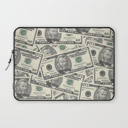 Collage of Currency Graphic Laptop Sleeve