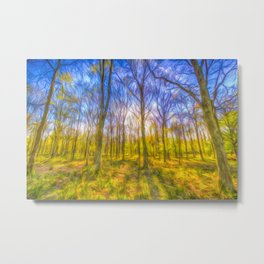 Warm Forest Art Metal Print