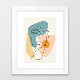 Abstract Face 25 Framed Art Print