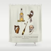 tequila Shower Curtains featuring Tequila Mockingbird by Sam Mitchell