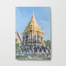 Wat Chiang Man I, Chiang Mai, Thailand Metal Print