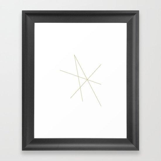 #334 Isometr-crcrrrrrrr – Geometry Daily Framed Art Print