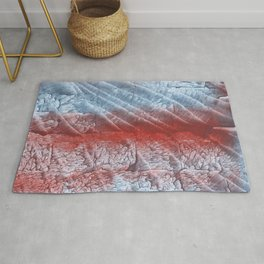 Red blue abstract Rug