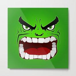 Green Hulk Angry Metal Print