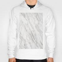 white marble Hoodies featuring White Marble by LS Works