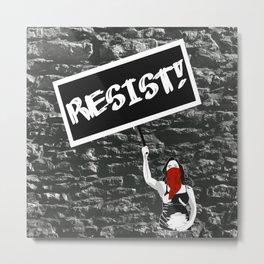 Resist!!! Metal Print