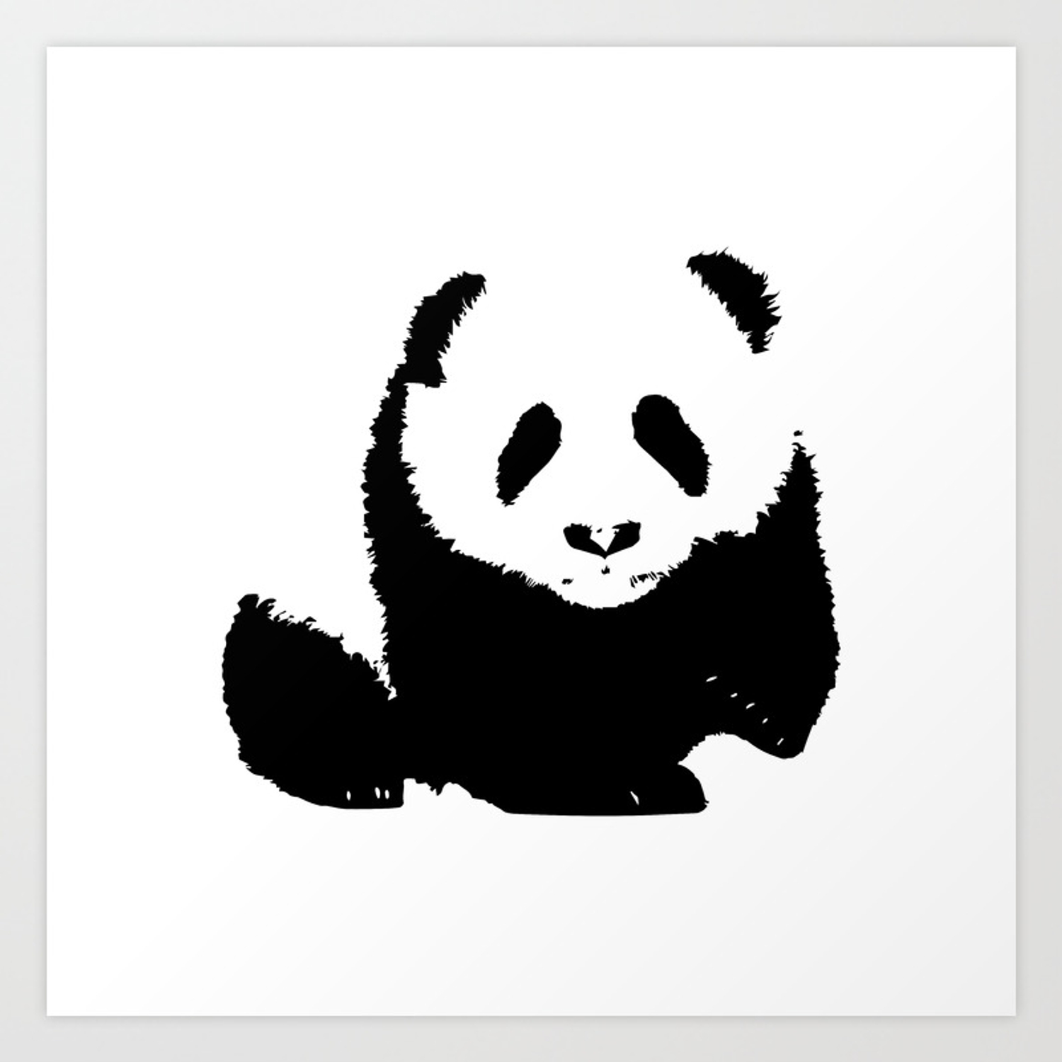 Nowhere Collection Panda Bear Print Art Print By Aelissedesign