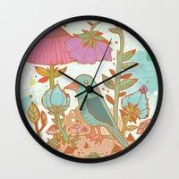 The Blue Bird Wall Clock