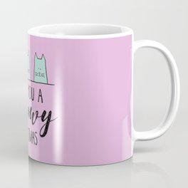 Meowy Christmas Pink Coffee Mug
