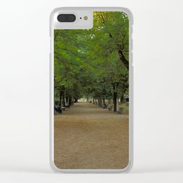 Passeggiata per Villa Borghese Clear iPhone Case