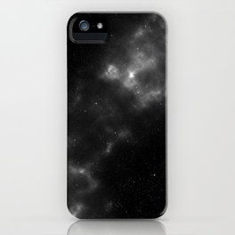 black & white space iPhone Case