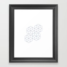 #339 Cubic dance – Geometry Daily Framed Art Print