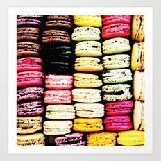 Macarons LOVE Art Print
