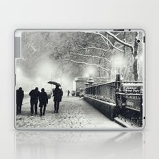 New York City Snow Bryant Park Laptop & iPad Skin